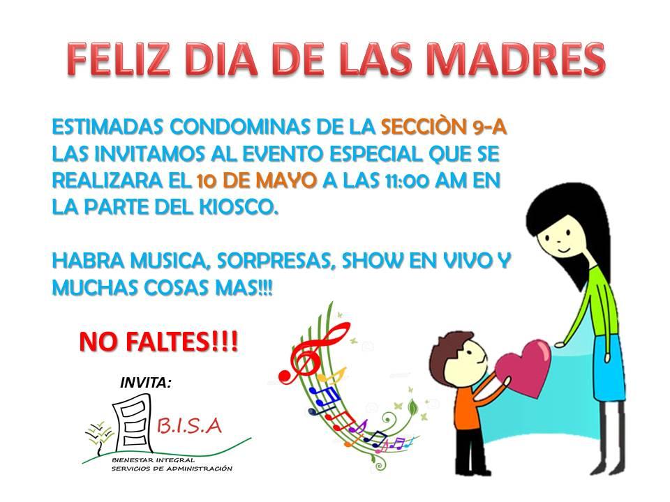 Invitación A Celebración Día De La Madre: Invitación A Celebrar El Día De Las Madres